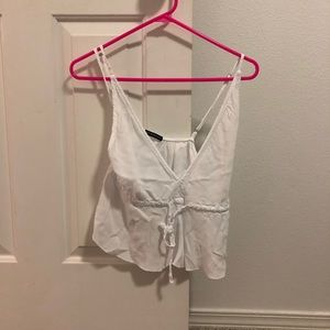 Brandy Melville white tank top one size